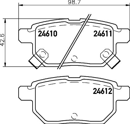 Тормозные колодки дисковые MINTEX арт. 8DB 355 013-581