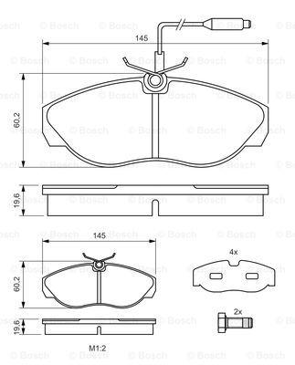 Тормозные колодки дисковые MINTEX арт. 0986424030