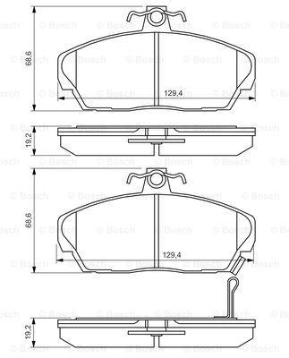 Тормозные колодки передние дисковые MINTEX арт. 0986424214