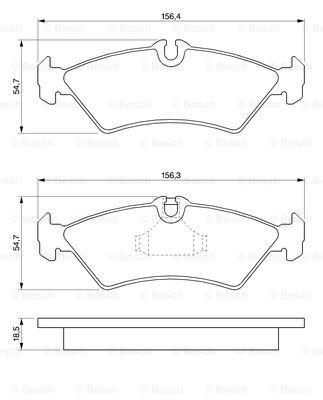 Тормозные колодки задние дисковые MINTEX арт. BO 0986424219