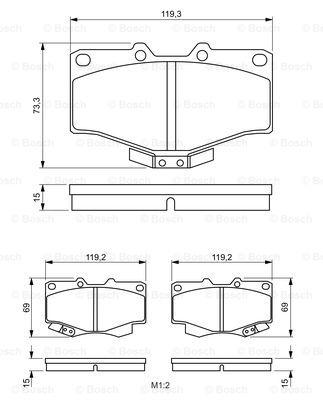Тормозные колодки передние дисковые MINTEX арт. BO 0986424268