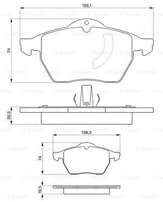 Тормозные колодки дисковые MINTEX арт. BO 0986424360