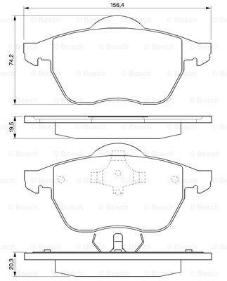 Тормозные колодки передние дисковые MINTEX арт. 0986424460