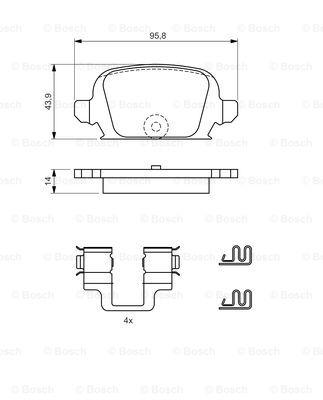 Тормозные колодки дисковые MINTEX арт. 0986424528