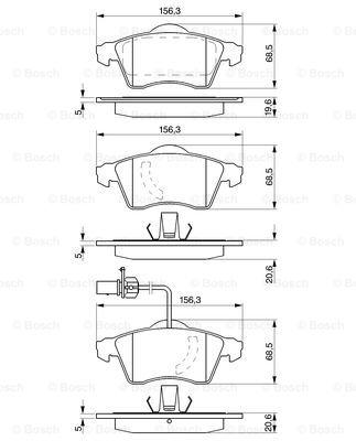 Тормозные колодки дисковые MINTEX арт. 0986424537