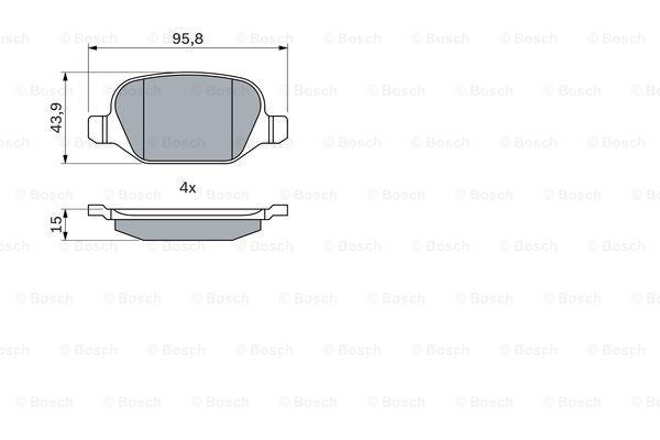Тормозные колодки задние дисковые MINTEX арт. BO 0986424553