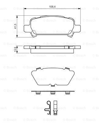Тормозные колодки дисковые MINTEX арт. BO 0986424650