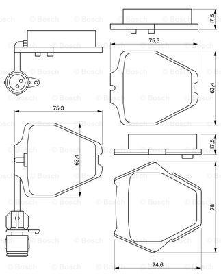 Тормозные колодки передние дисковые MINTEX арт. BO 0986424689