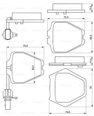 Тормозные колодки передние дисковые MINTEX арт. BO 0986424690