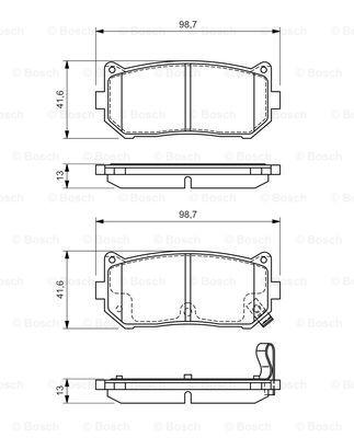 Тормозные колодки дисковые MINTEX арт. 0986424693