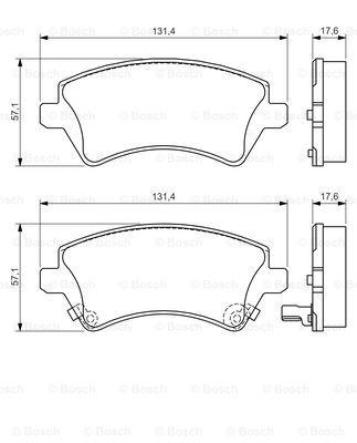 Гальмівні колодки, дискові MINTEX арт. BO 0986424735