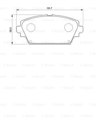 Тормозные колодки дисковые MINTEX арт. 0986424791