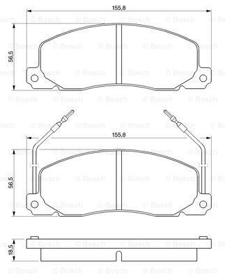 Тормозные колодки дисковые MINTEX арт. 0986460946