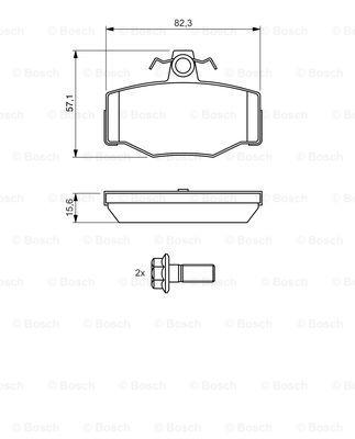 Тормозные колодки дисковые MINTEX арт. 0986460993