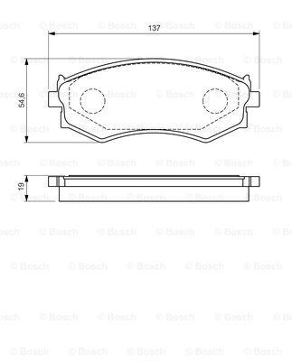 Тормозные колодки дисковые MINTEX арт. 0986461139