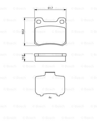 Тормозные колодки задние дисковые MINTEX арт. 0986466871