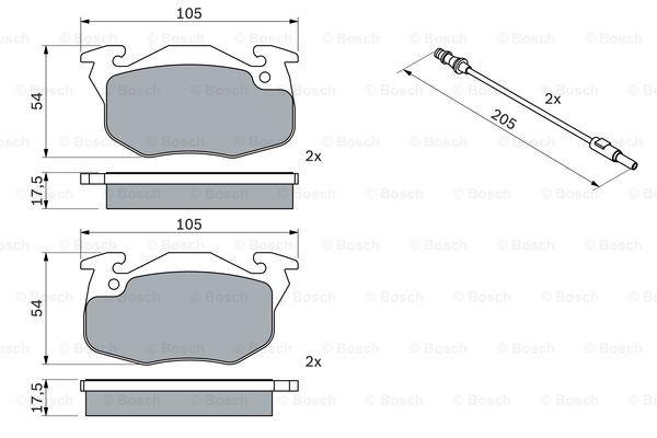 Тормозные колодки передние дисковые MINTEX арт. BO 0986469860
