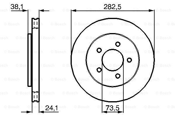 Тормозной диск MINTEX арт. BO 0986478109