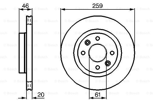 Тормозной диск MINTEX арт. 0986478270