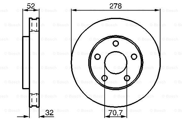 Тормозной диск MINTEX арт. 0 986 478 486