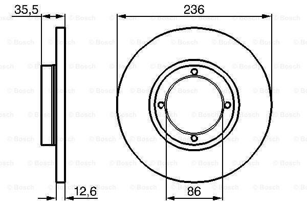 Тормозной диск MINTEX арт. 0986478712