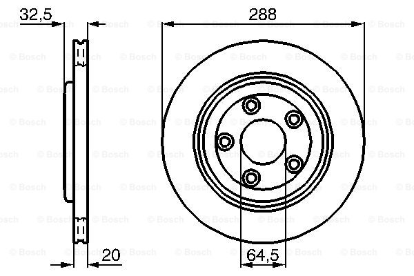 Тормозной диск MINTEX арт. BO 0986478777
