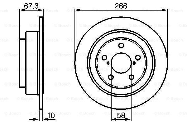 Гальмівний диск MINTEX арт. BO 0986478799
