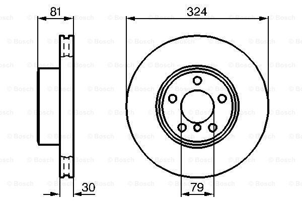 Тормозной диск MINTEX арт. 0986479002