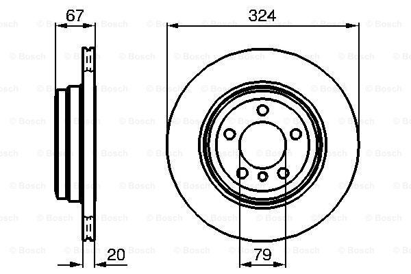 Тормозной диск MINTEX арт. 0986479004