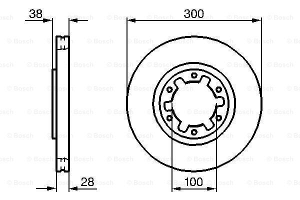 Тормозной диск MINTEX арт. 0 986 479 031