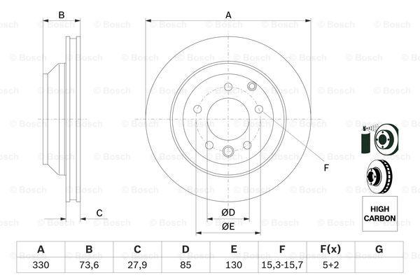 Тормозной диск MINTEX арт. 0986479095