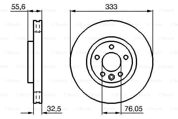 Тормозной диск MINTEX арт. BO 0986479096