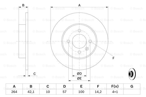 Тормозной диск MINTEX арт. 0986479191