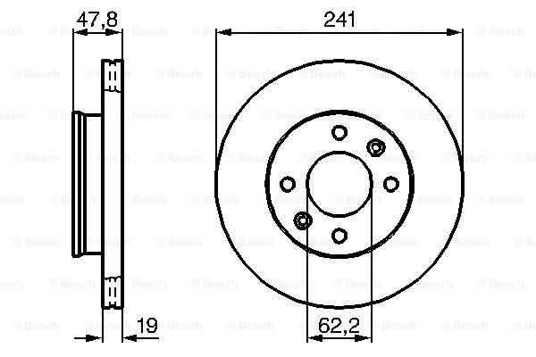 Тормозной диск передний MINTEX арт. 0986479206