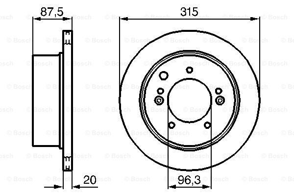 Тормозной диск MINTEX арт. 0986479232