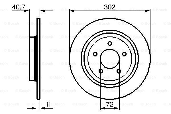 Тормозной диск MINTEX арт. BO 0986479233