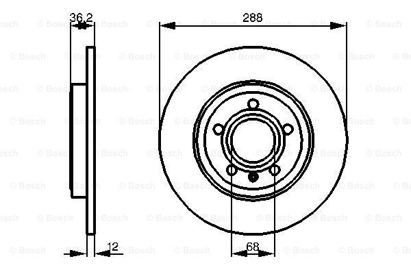 Тормозной диск MINTEX арт. 0986479252