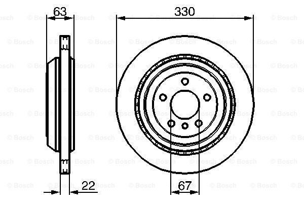 Гальмівний диск MINTEX арт. 0986479285