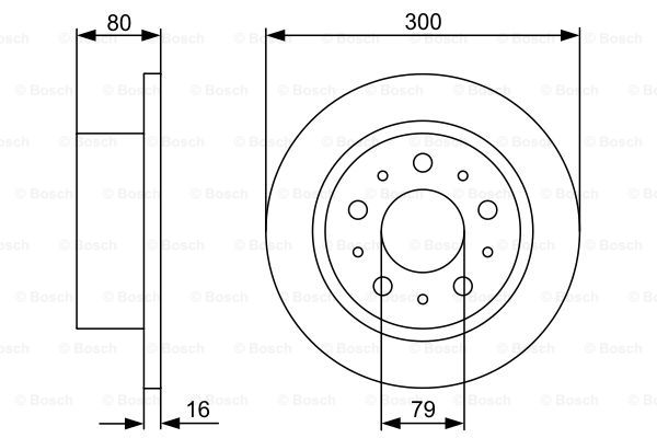 Тормозной диск MINTEX арт. 0 986 479 317