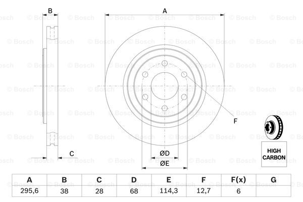 Тормозной диск MINTEX арт. BO 0986479356