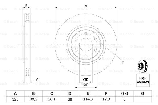 Тормозной диск MINTEX арт. 0986479357