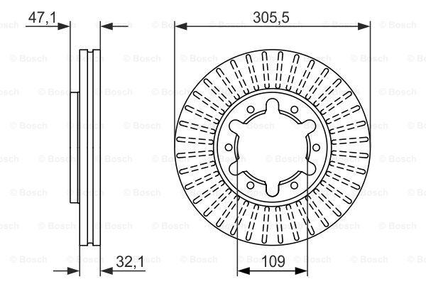 Тормозной диск MINTEX арт. BO 0986479359