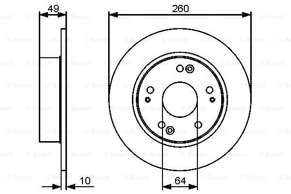 Тормозной диск MINTEX арт. 0986479450