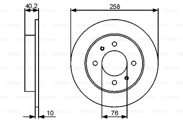 Тормозной диск MINTEX арт. 0 986 479 484