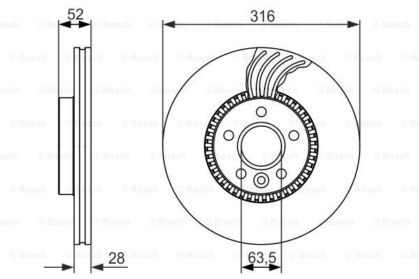 Тормозной диск MINTEX арт. 0986479620