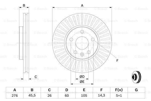 Тормозной диск передний MINTEX арт. 0986479643
