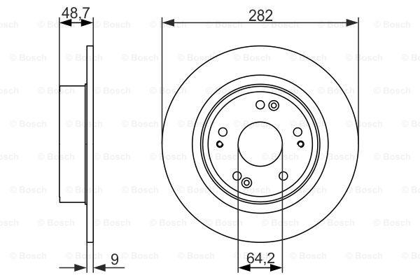 Гальмівний диск MINTEX арт. 0986479738