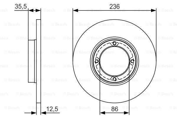 Тормозной диск MINTEX арт. 0986479R81