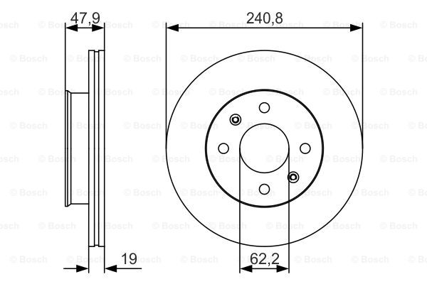 Тормозной диск MINTEX арт. BO 0986479S18
