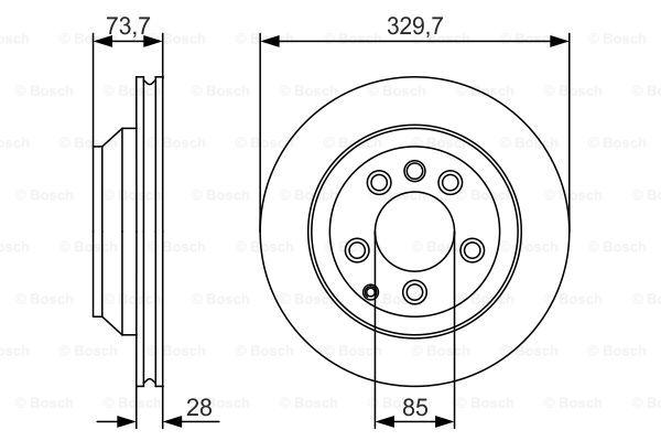 Тормозной диск MINTEX арт. 0986479S20
